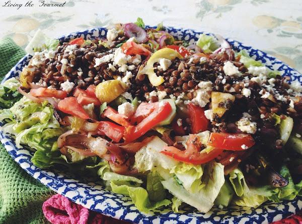 Greek Salad With Lemon Oregano Lentils Recipe