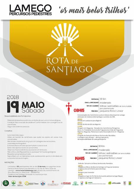 Programa – Rota de Santiago – Lamego – 19 de Maio de 2018