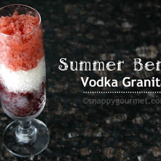 Summer Berry Vodka Granita.