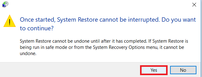 confirm the restore process
