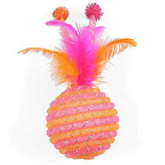 Jumbo glitterboll orange 10cm i diameter