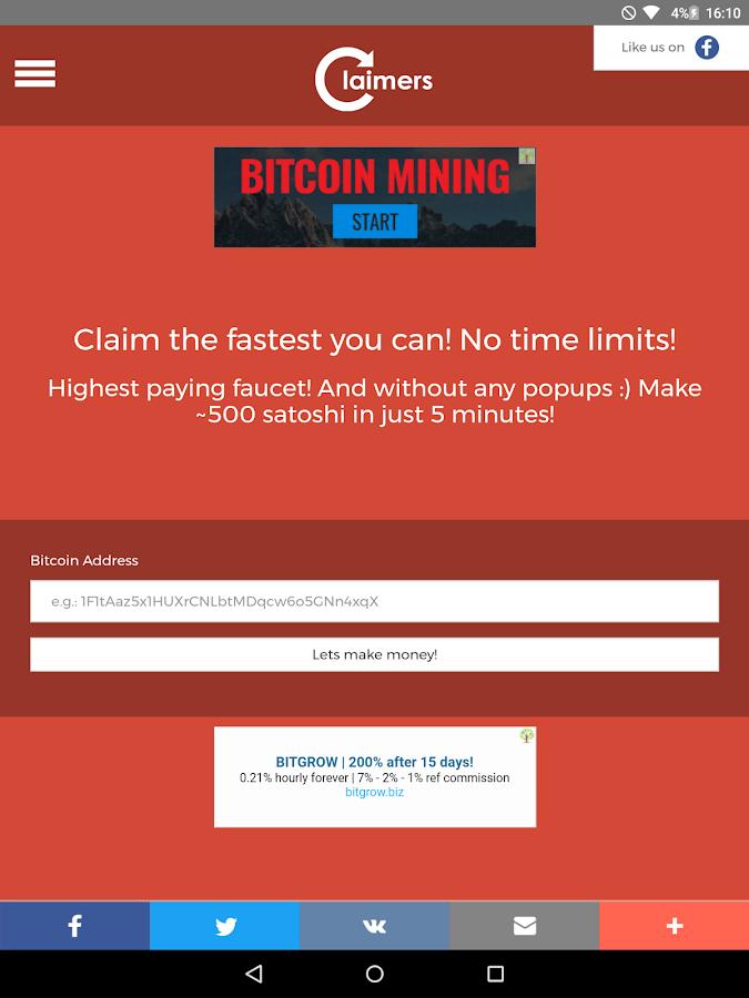 Claim bitcoin app / Segwit2x countdown