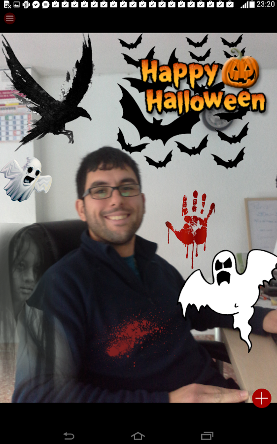 Halloween Photo stickers- screenshot