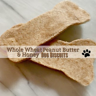 Whole Wheat Peanut Butter & Honey Dog Biscuits.