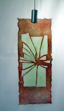 Photo: 'Shattered', 2009 - fused laboratory glass hanging - 10x25cms - SALE PRICE £30