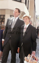 Photo: the grooms brother-in-law Edouard Crepy  with his son Gaspard
