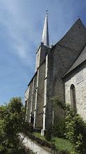 Photo: Biserica Reformată, construită în stil gotic, cu un turn înalt de 72 m, simbolul orașului Dej