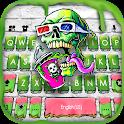 Graffiti Skull Paint Keyboard Background icon