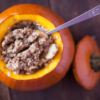 Ground Beef Dinner in a Pumpkin