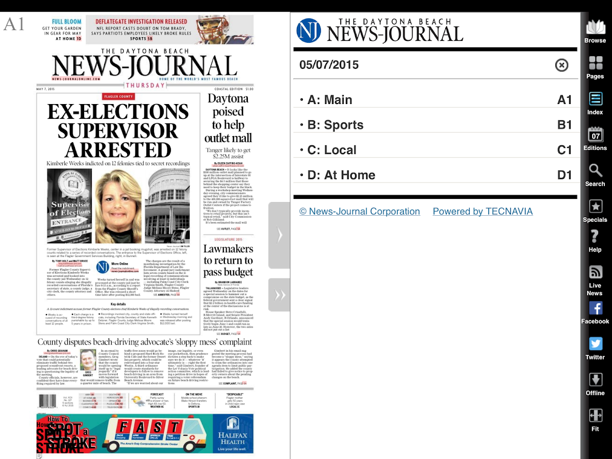 Daytona Beach News-Journal- screenshot