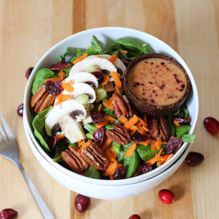 Mixed Green Salad with Cranberry Dressing RecipeMixed Green Salad with Cranberry Dressing