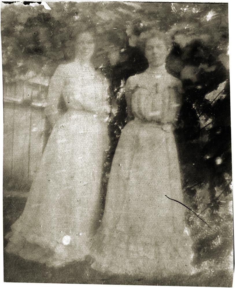 Photo: Jayne B. Kerr and Clara Schwenacke, May 1902.  Marshall, Illinois.