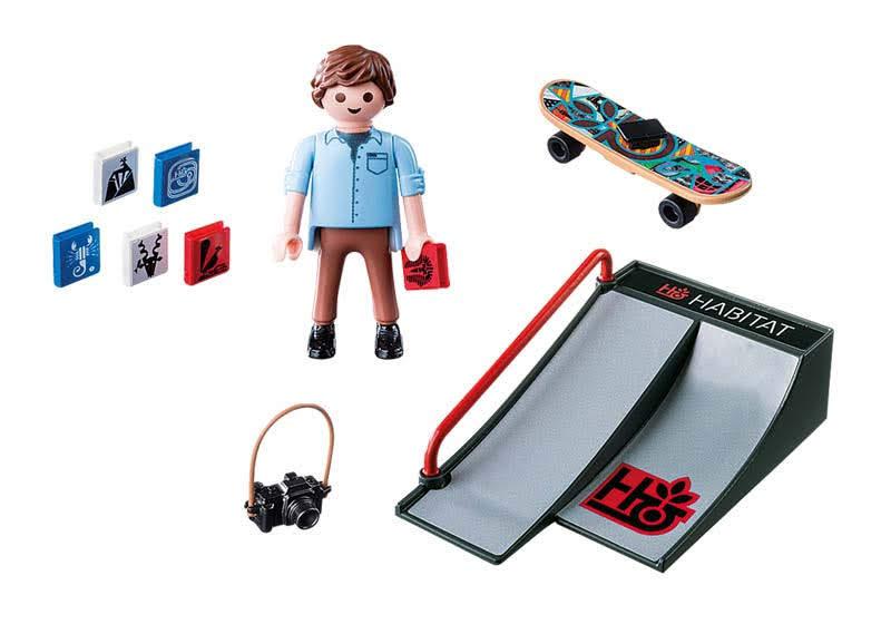 Contenido Real de Playmobil® 9094 Skater con Rampa
