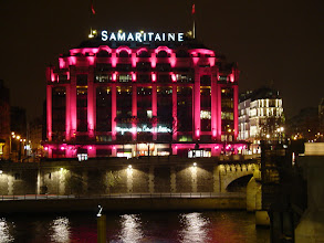 Photo: Also illuminated for the holidays is Samaritaine, a department store directly on the Seine's Right Bank.