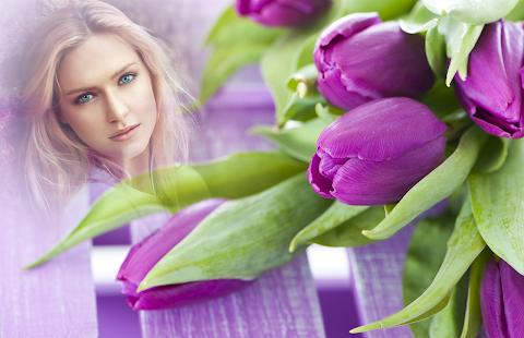 Purple Tulips Photo Frames - náhled