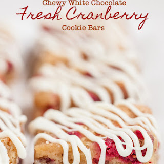 Chewy White Chocolate Cranberry Bars