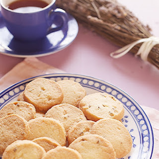 Eggless Lavender Biscuits/Cookies.