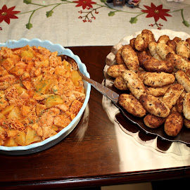Tripe and croquettes. by Peter DiMarco - Food & Drink Meats & Cheeses ( foods, food, patatos, tripe, cooked )