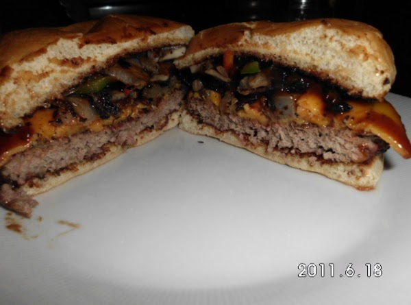 Stack your burger using 1 pattie and all the trimmings.  Add A-1 on...