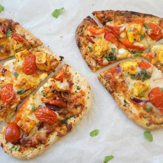 Tandoori Paneer Naan Pizza - Air Fryer / Oven Recipe
