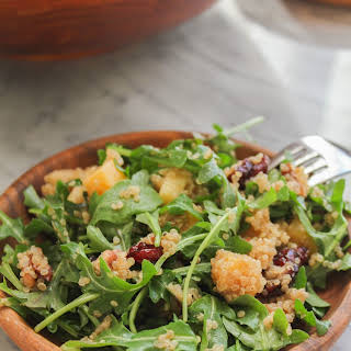 Quinoa Salad with Apples, Pecans and Dried Cranberries.
