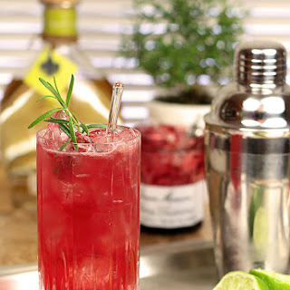 Rosemary Cherry Crush with Tequila and Cherry Preserves.