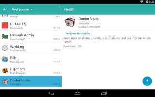 Screenshot of Memento Database