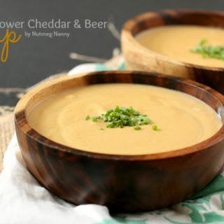 Califlower Cheddar & Beer Soup