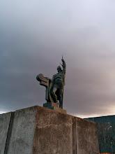 Photo: Statue de Ingólfur Arnarson (un des premiers habitants permanents de l'Islande)