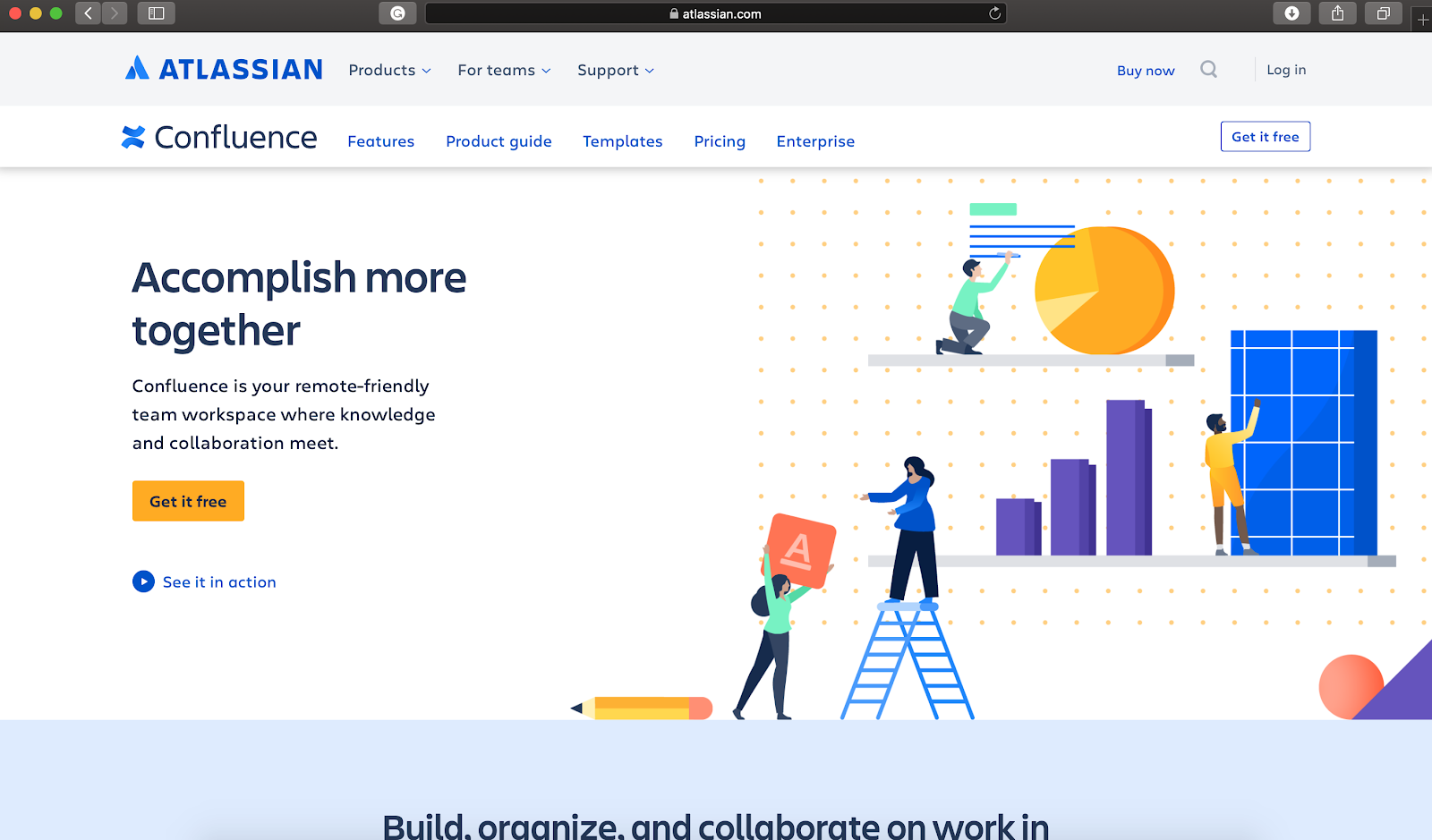 confluence homepage