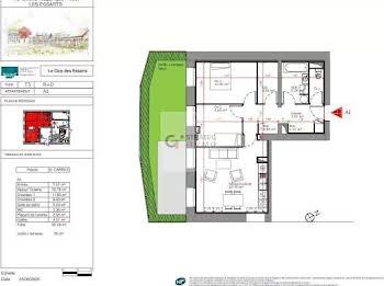 Maison 3 pièces 65,29 m2