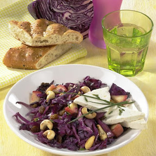 Spiced Cabbage with Cashew Nuts and Feta