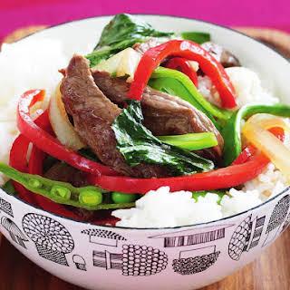 Beef and Vegetable Stir Fry.