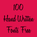 Hand Written Fonts Free icon
