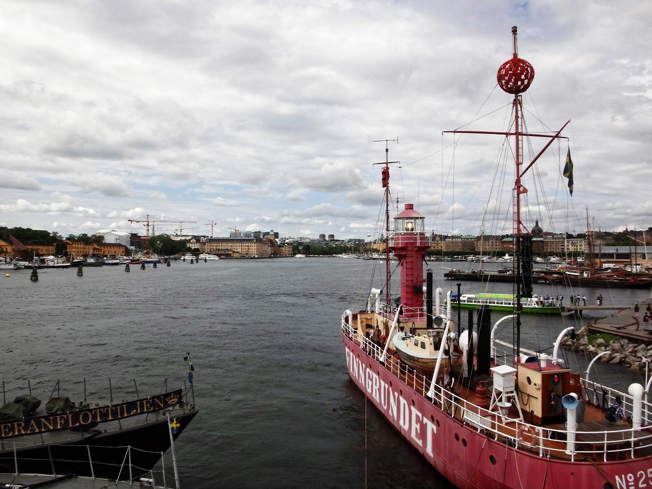 Lightship Finngrundet in Stockholm Harbor, Stockholm, Sweden