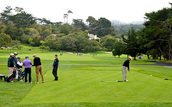 Photo: 77. Hole number one at the famed Pebble Beach golf course. I think every single famous golfer the world has produced has golfed here at some point. They let the general non-golfing public walk around the clubhouse, store, and even the beginning of the course itself.
