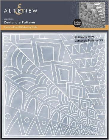 Altenew Embossing Folder - Zentangle Patterns 3D