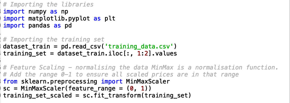 Data preprocessing and importing python libraries