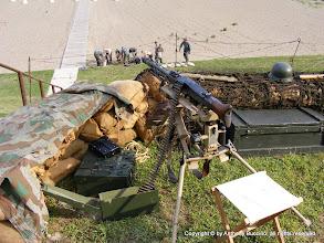 Photo: German machine gun emplacement on bluff.