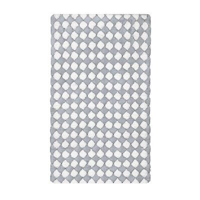 Коврик для ванной Kleine Wolke Merida белый с серым 60х100 см