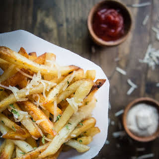 Duck Fat Parmesan Truffle Fries with Truffle Mayonnaise.