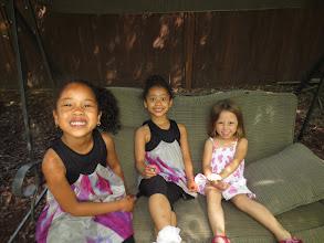 Photo: Dani, Dineo, and Riley