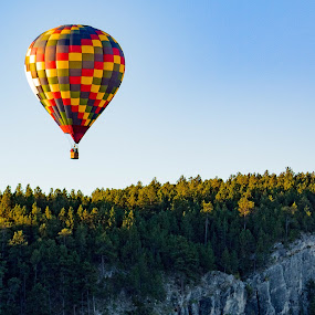 And away by Angelica Less - Transportation Other ( black hills, hot air balloon, sky, south dakota, landscape, balloon )