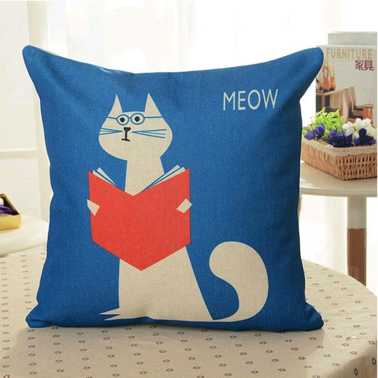 Meow Sofa Cushion Throw Pillow Case Cover