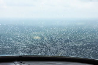 Photo: The clear area has rain... Cool for a free wash job.