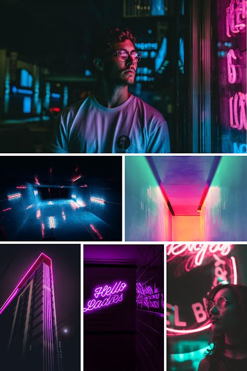 Neon Collage - Pinterest Pin Template