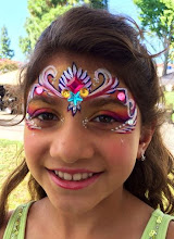 Photo: Pretty face painting with jewels which is available upon request. Call to book her for your princess party today! 888-750-7024 http://www.memorableevententertainment.com/FacePainting/MariaChino,Ca.aspx