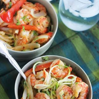 Cajun Garlic Shrimp Noodle Bowls.