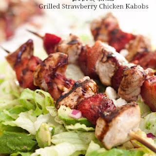 Balsamic Glazed Grilled Strawberry Chicken Kabobs