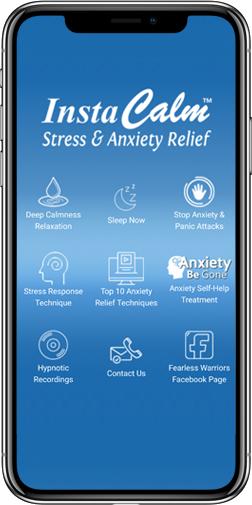 instacalm app screen in iphone x